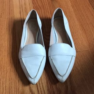 White Vince Camuto Maita pointy toe flats